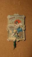 """Miroir De Poche Publicitaire Cartonné """"Eau Minérale Naturelle De Couzan Source Brault"""" - Other"""