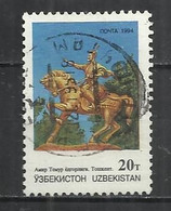 UZBEKISTAN 1994 - STATUE TO TIMUR - POSTALLY USED OBLITERE GESTEMPELT USADO - Usbekistan