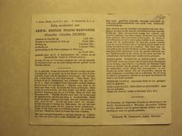 BP 1500 - ZUSTER MARIE-BERNARDE - DELBEKE ALBERTHA - DEERLIJK 01.07.1891 - WOUMEN 10.07.1967 - ZIE 2 FOTO'S - Devotion Images