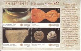 2019 Philippines Indigenous Languages Pottery Relics  Souvenir Sheet MNH - Filippine