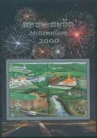 Laos 2000 Eintritt In Das Jahr 2000 Millennium Block 177 A Postfrisch (C30310) - Laos