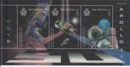 2019 San Marino 3D Hologram Moon Landing Space Exploration COOL!!  Souvenir Sheet MNH @ BELOW FACE VALUE - Ungebraucht