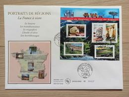 FDC Bloc N°094 -  Portraits Des Régions : Beurre Roquefort Huile Transhumance - 2000-2009