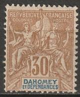 Dahomey 1904 Sc 10 Yt 11 MH* Some Disturbed Gum - Nuovi