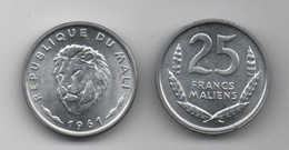 Mali - 25 Francs 1961 UNC Lemberg-Zp - Mali (1962-1984)