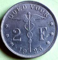 BELGIE/ 2 FRANK  1923 VL KM 92 HIGH GRADE - 08. 2 Francs
