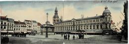 Carte Double Ostende Vue Générale De L'Hôtel De Vill Et Du Casino Circulée En 1905 - Oostende
