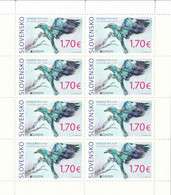 2019 Slovakia Birds Oiseaux Europa Miniature Sheet Of 8 MNH @ BELOW FACE VALUE - Blocs-feuillets