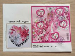 FDC Bloc N°127 - Saint Valentin Le Mini-bloc De Emanuel Ungaro - 2000-2009