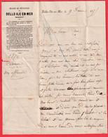 COMMUNE DE PARIS  PRISONNIER AU BAGNE DE BELLE ILE EN MER POUR CHOISY LE ROI TAXE TAMPON 40 LE PALAIS MORBIHAN 1875 - Guerra De 1870
