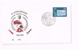 75 ème Anniversaire Sapeurs-pompiers, Soignies. - Lettres & Documents