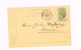 Entier Postal à 5 Centimes.(Armoiries).Expédié De Charleroi à Courcelles. - AK [1871-09]