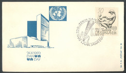 Yugoslavia, 1962-10-24, Slovenia, Ljubljana, Day Of United Nations, Special Postmark And Cover - Other