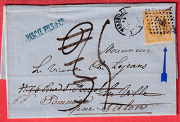 N°13 PC 1896 MARSEILLE 2 12 2 TAXE 3 MODIFIE A 5 TAXE DE REEXPEDITION POUR SALON DE PROVENCE BOUCHES DU RHONE - Lettere Tassate