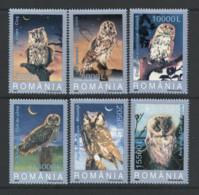 2003 Romania Roumanie  Rumänien 5729-34 MNH Neuf - Owls, Birds, Fauna - KL32 - Owls