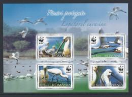 2006 Romania Roumanie  Rumänien Block 391 MNH Neuf -  WWF, Birds, Eurasian Spoonbill - KL28 - Nuevos