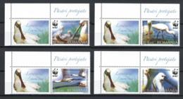 2006 Romania Roumanie  Rumänien 6134-37 + Label MNH Neuf -  WWF, Birds, Eurasian Spoonbill - KL06 - Nuevos