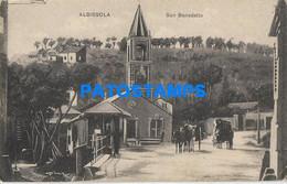 166098 ITALY ALBISSOLA SAVONA CHURCH SAN BENEDETTO POSTAL POSTCARD - Non Classificati
