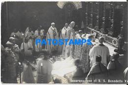 166101 ITALY RELIGIOUS POPE S.S BENEDETTO XV CORONATION POSTAL POSTCARD - Zonder Classificatie