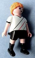 Playmobil Figur Geobra 2006  -   Fußballspieler Tip Kick Ohne Sockel / Ball - Playmobil