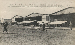 CPA - La Grande Semaine D'Aviation à Reims 1009 - Les Aéroplanes De Blériot Sont Sortis De Leurs Hangars - ....-1914: Precursori