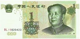 China - 1 Yüan - 1999 - Pick  895.a - Unc. - Serie BL 15 - Mao Tsé-Tung ( Zedong ) - Zhongguo Renmin Yinhang - Chine