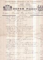Dépt 77 - FAREMOUTIERS - Facture Illustrée Emblèmes Maçonniques - Maurice DEFER (aux Bordes) - 1939 - Timbres Fiscaux - Faremoutiers