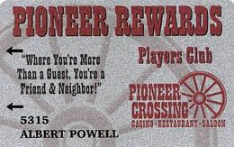 Pioneer Crossing Casino - Nevada - Slot Card - Casinokaarten