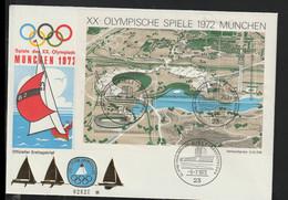 Germany FDC 1972 München Olympic Games Souvenir Sheet - Kiel (LAR10-64) - Verano 1972: Munich