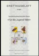 Germany Ersttagsblatt 1984 Für Den Jugend - Bees (LAR10-64) - Honeybees
