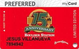 Station Casinos Las Vegas, NV - Boulder Station 15th Anniversary Slot Card Copyright 2009 - Casinokaarten