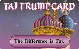 Trump Taj Mahal Casino Atlantic City NJ - Slot Card  - The Difference Is Taj - Casinokaarten