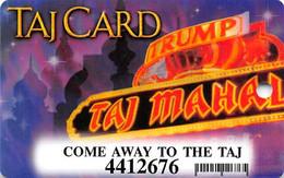Trump Taj Mahal Casino Atlantic City NJ - Slot Card - Come Away To The Taj - Casinokaarten