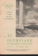 Finland A5 Sized Folder 1952 Olympic Games In Helsinki: Program Der Spiele Und Preise - In German 20 Pages (LAR10-64) - Verano 1952: Helsinki