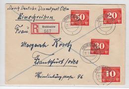 Generalgouvernement R-Brief Mit Satz Zustellungsmarken Ab Hrubieszownach Frankfurt AKs - Besetzungen 1938-45