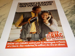 ANCIENNE PUBLICITE  ECOUTEZ LA RADIO RMC 1982 - Andere