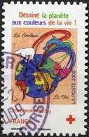 France Poste AA Obl Yv: 237 Croix-Rouge Dessine La Planète Inès Scharff (Beau Cachet Rond) - KlebeBriefmarken