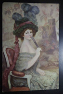 A41  FRANCE CPA MUSEE DU LUXEMBOURG - LA FEMME A L' EVENTAIL - Altri