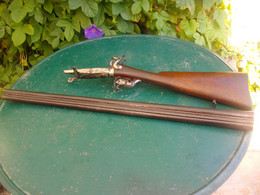 Avoir Vieux Fusil A Chien A Broches Complet - Decorative Weapons