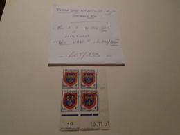 RARE !! NEUFS ** + Coins DATES+Bloc De 4  (  N° 49 Surcharge Fine!!! ) 2021 Cote = 300 Eur !! 45 Photos Recto/Verso - 1953-1960