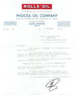 FACTURE RELANCE  1967 PHOCEA OIL COMPANY A SALON DE PROVENCE - 1950 - ...