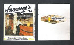 BR. LOUWAEGE - KORTEMARK - LOUWAEGE'S PILS  -  25 CL  -  BIERETIKET  (BE 994) - Bière