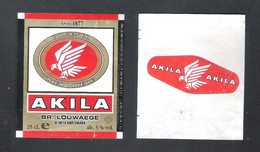 BR. LOUWAEGE - KORTEMARK - AKILA   -  25 CL  -  BIERETIKET  (BE 995) - Bière