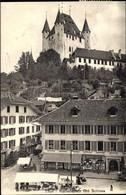 CPA Thun Kanton Bern Schweiz, Rathausplatz, Schloss - BE Berne