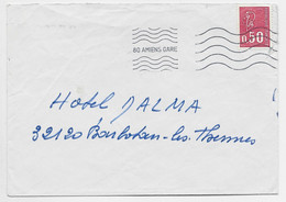 BEQUET 50C LETTRE MEC 80 AMIENS GARE - Mechanical Postmarks (Advertisement)