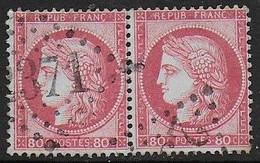 Cérès  N° 57 En Paire Oblitérée  - Cote : 35 € - 1871-1875 Ceres
