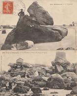 BRIGNOGAN - 2 CPA : Le Chameau - Les Rochers Et Pointe Du Corps De Garde - Brignogan-Plage
