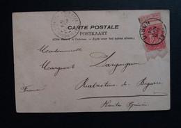 """Belgique  Oblitération Dison Sur CP Vue Verviers """" Eglise De Heusy """" - AK [1871-09]"""