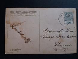 Belgique  Oblitération Dison Sur CP Fantaisie - AK [1871-09]