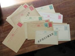 GB Kolonie Sierra Leone Ganzsachen / Doppelkarten Kleiner Posten Mit 17 Karten Davon 4x Mit Specimen Aufdruck!! RR - Sierra Leone (...-1960)